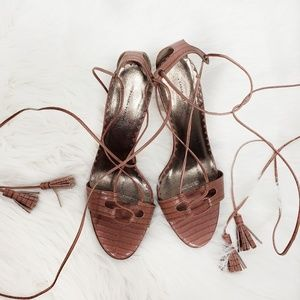 Banana Republic Shoes - Banana Republic Ankle Wrap Stiletto Sandal Leather